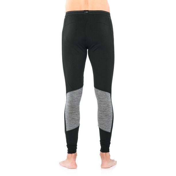 Icebreaker 200 Oasis Deluxe Leggings Herr black/gritstone heather