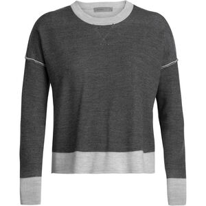 Icebreaker Carrigan Reversible Sweater Sweatshirt Dam Steel Heather Steel Heather