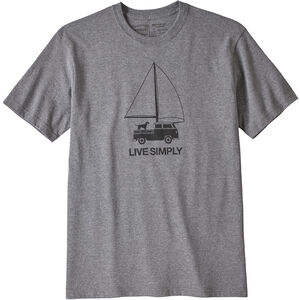 Patagonia Live Simply Wind Powered Responsibili-Tee Herr gravel heather gravel heather