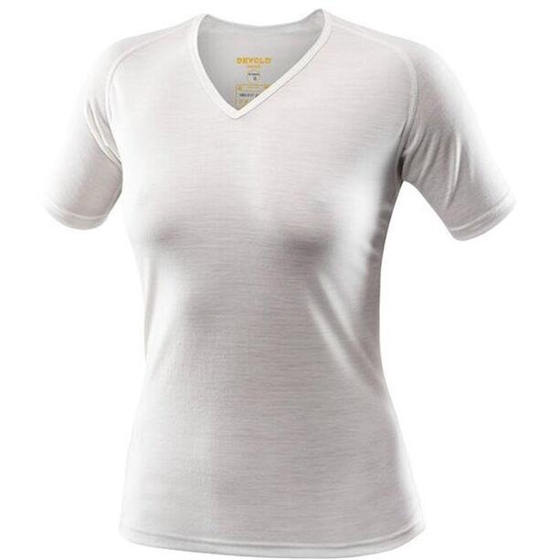 Devold Breeze T-Shirt V-Neck Dam offwhite