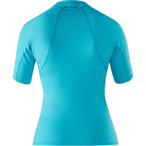 NRS Rashguard Short Sleeve Shirt Dam blue atoll