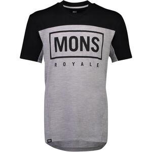 Mons Royale Redwood Enduro V-Neck T-Shirt Herr black/grey marl black/grey marl