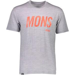 Mons Royale Icon Slant T-shirt Herr grey marl grey marl