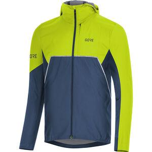 GORE WEAR R7 Partial Gore-Tex Infinium Hooded Jacket Herr deep water blue/citrus green deep water blue/citrus green