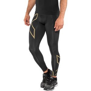 2XU MCS Run Compression Tights with Back Stor Herr black/gold reflective black/gold reflective