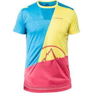 La Sportiva Workout T-shirt Herr tropic blue/lemonade tropic blue/lemonade