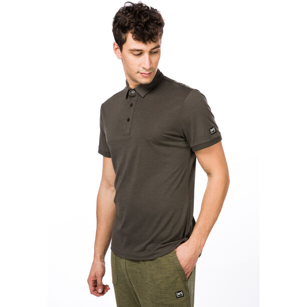 super.natural Essential Polo Shirt Herr killer khaki
