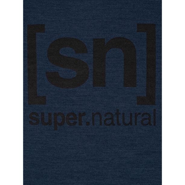 super.natural Essential I.D. LS Dam blue iris melange/jet black logo