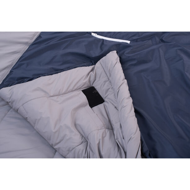 Grüezi-Bag Biopod Wool Murmeltier Comfort Sleeping Bag XXL night blue