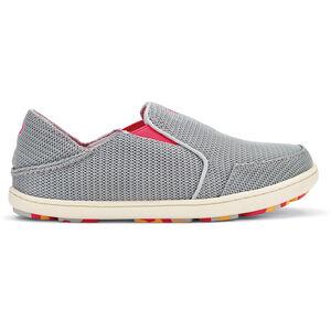 OluKai Nohea Mesh Shoes Flickor pale grey/dark hibiscus pale grey/dark hibiscus
