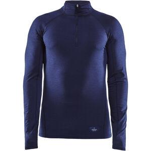 Craft Merino Lightweight Zip Shirt Herr maritime maritime