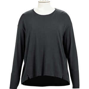 Alchemy Equipment Long Sleeve Pleated Relaxed Top Dam graphite graphite