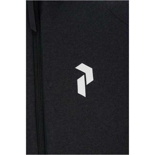 Peak Performance Pulse Zip Jacket Herr dark grey melange