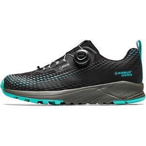 Icebug NewRun BUGrip GTX Shoes Dam Black/Jade Mist Black/Jade Mist