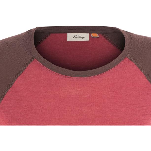 Lundhags Merino Light LS Raglan Shirt Dam garnet/acai