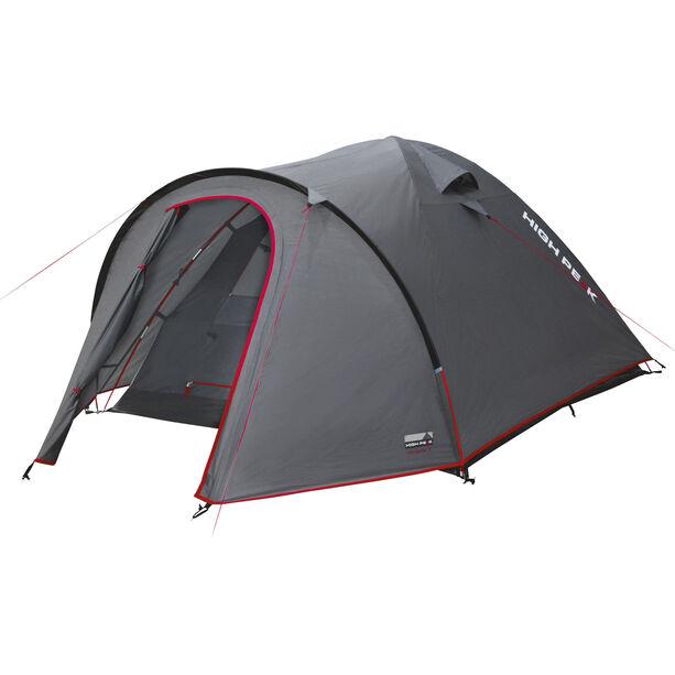 High Peak Nevada 4 Tent dark grey/red