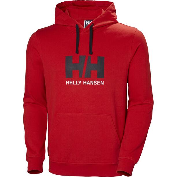 Helly Hansen HH Logo Hoodie Herr flag red