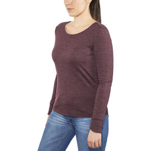 Alchemy Equipment Merino Essential LS Tee Dam wine marle wine marle