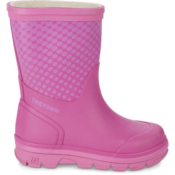 Tretorn Aktiv Dot Rubber Boots Barn violet/pink