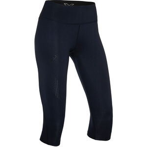 2XU Mid-Rise Compression 3/4 Tight Dam black/dotted black logo black/dotted black logo