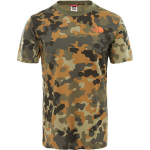 The North Face Red Box SS Tee Herr new taupe green macro flick print new taupe green macro flick print