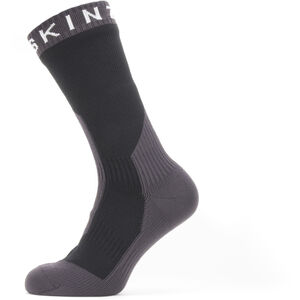 Sealskinz Waterproof Extreme Cold Weather Mid Socks Black/Grey/White Black/Grey/White