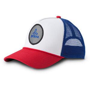 Prana Patch Trucker Hat red white blue red white blue