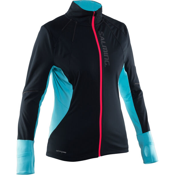 Salming Thermal Wind Jacket Dam black/turquoise