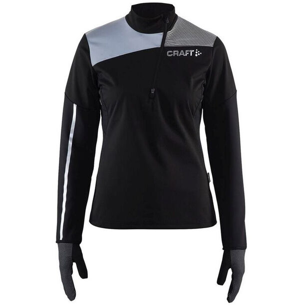 Craft Repel Wind Jersey Dam black/silver reflective