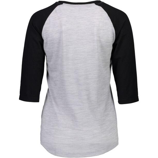 Mons Royale Phoenix Raglan MR Box OL 3/4 T-Shirt Dam black/grey marl