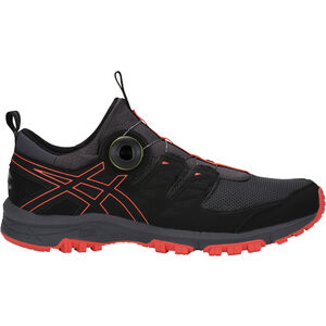 asics Gel-FujiRado Shoes Herr dark grey/red snapper dark grey/red snapper
