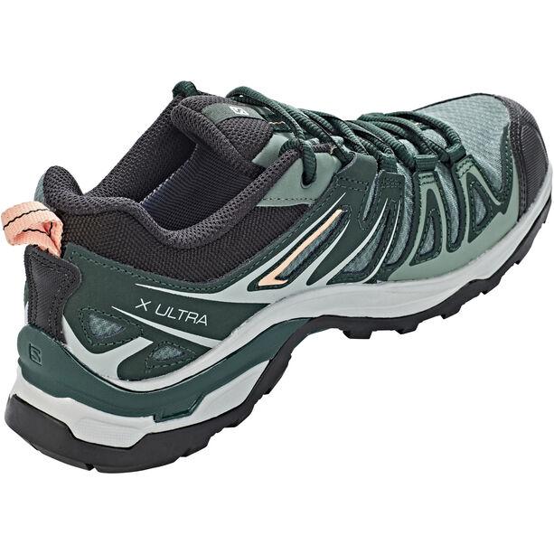 Salomon X Ultra 3 Prime GTX Shoes Dam balsam green/darkest spruce/coral almond