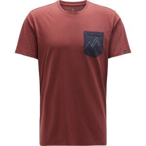 Haglöfs Mirth Tee Herr maroon red/slate maroon red/slate