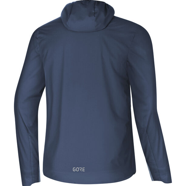 GORE WEAR H5 Gore Windstopper Insulated Hooded Jacket Herr deep water blue/cloudy blue