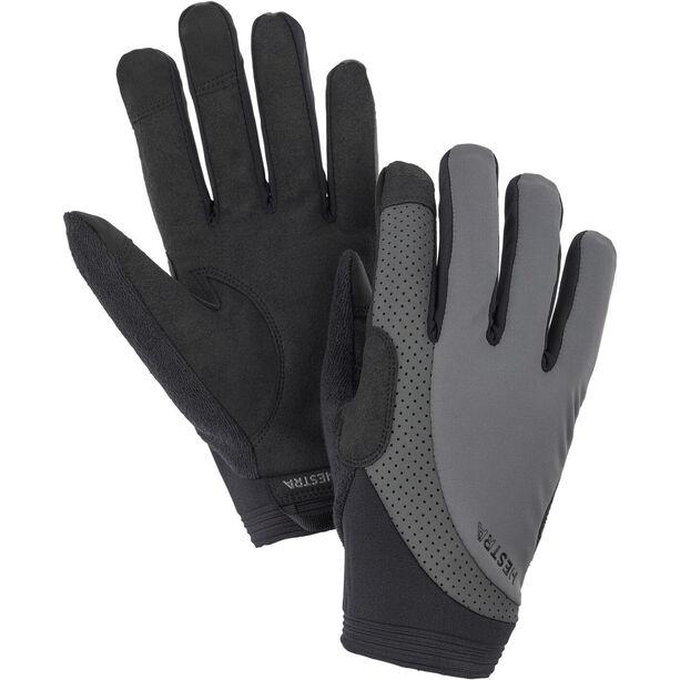 Hestra Apex Reflective Long Finger Gloves dark grey
