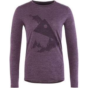 Klättermusen Eir Forest L/S Tee Dam night orchid night orchid