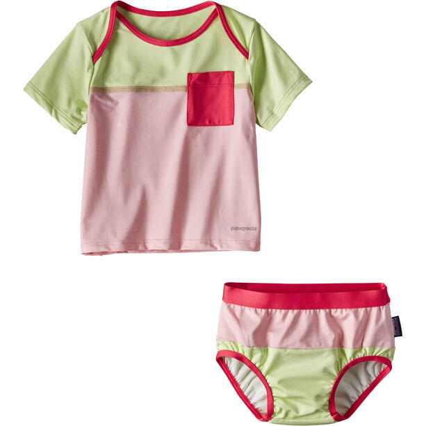 Patagonia Little Sol Swim Set Barn feather pink