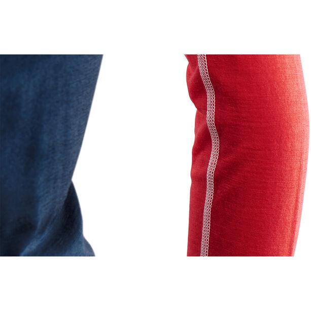 Aclima LightWool Reinforced Crew Neck Shirt Dam insigne blue/high risk red/nature