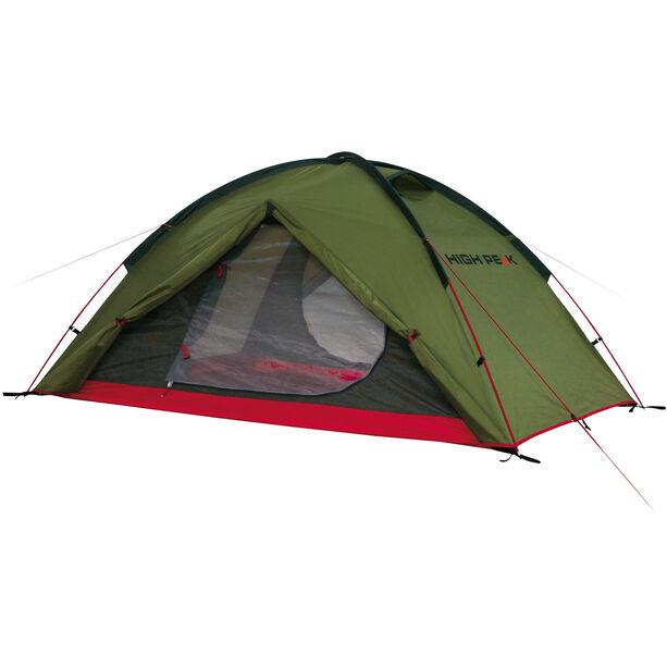 High Peak Woodpecker 3 Tent pesto/red