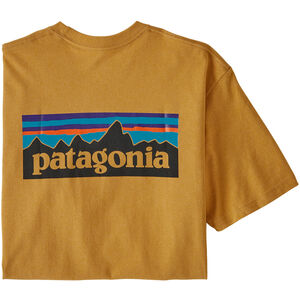 Patagonia P-6 Logo Responsibili Tee Herr glyph gold glyph gold