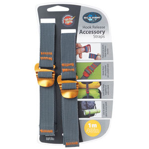 Sea to Summit Tie Down Accessory Strap with Hook 20mm 1m yellow yellow
