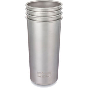 Klean Kanteen Pint Cup 20oz (592ml) 4-pack brushed stainless brushed stainless