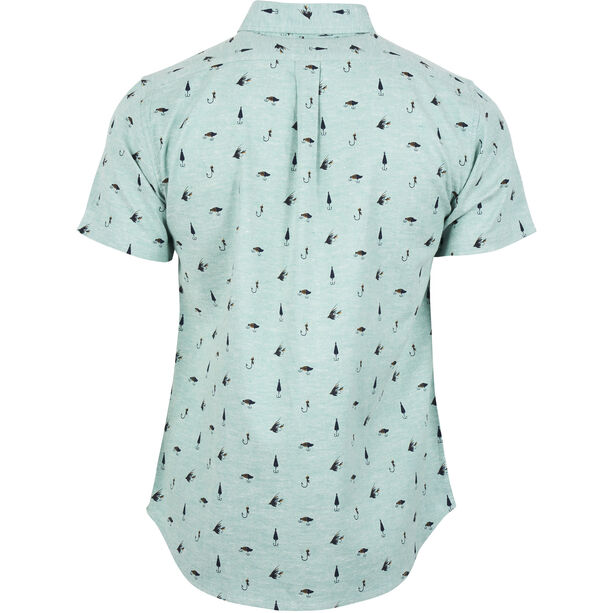 United By Blue Norde Stretch SS Button Down Herr sea green-hooked