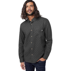 tentree Moncos Button-Up LS Shirt Herr Coal Black/Free Game AOP Coal Black/Free Game AOP