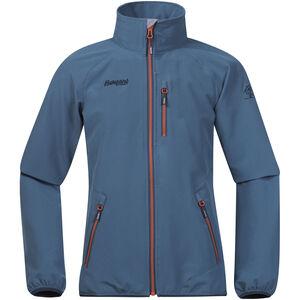 Bergans Kjerag Jacket Barn steel blue/dark steel blue/koi orange steel blue/dark steel blue/koi orange