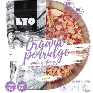 Lyofood Organic Porridge with Apple/Cranberry/Cinnamon and Chia Seeds 210g