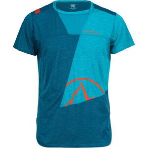 La Sportiva Workout T-shirt Herr lake/tropic blue lake/tropic blue