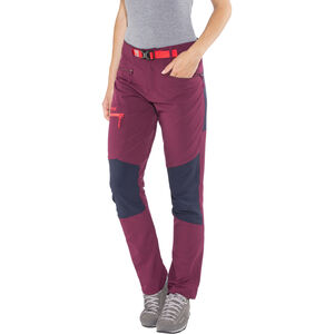 Bergans Cecilie Mountaineering Pants Dam dark cherry/navy/strawberry dark cherry/navy/strawberry