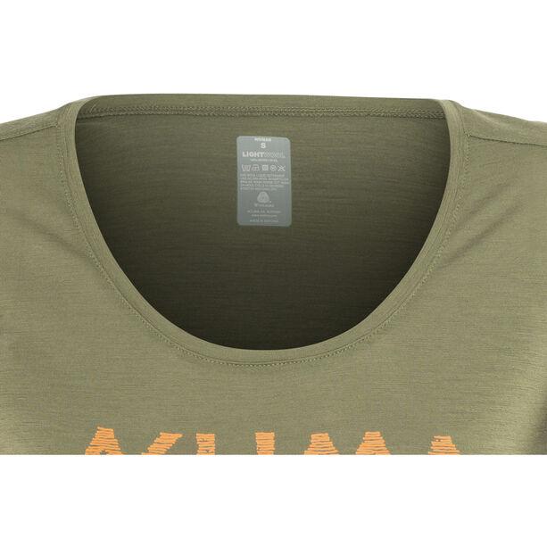 Aclima LightWool T-shirt Dam ranger green