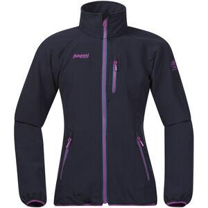 Bergans Kjerag Jacket Flickor navy/steel blue/pink rose navy/steel blue/pink rose
